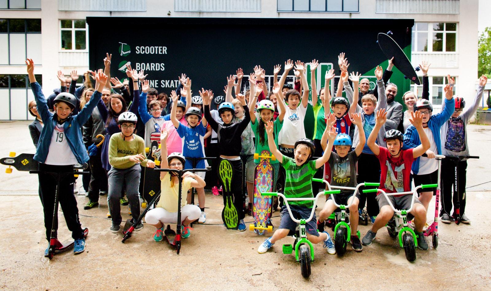 Gruppenfoto AOK Hessen Wheel up Kids