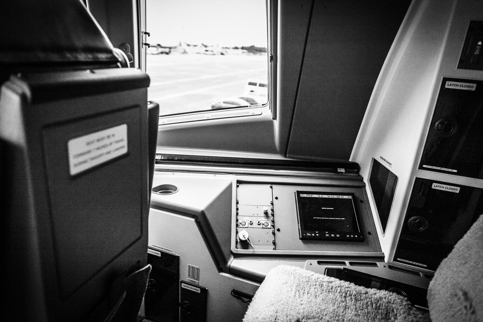 Cockpit einer Boeing