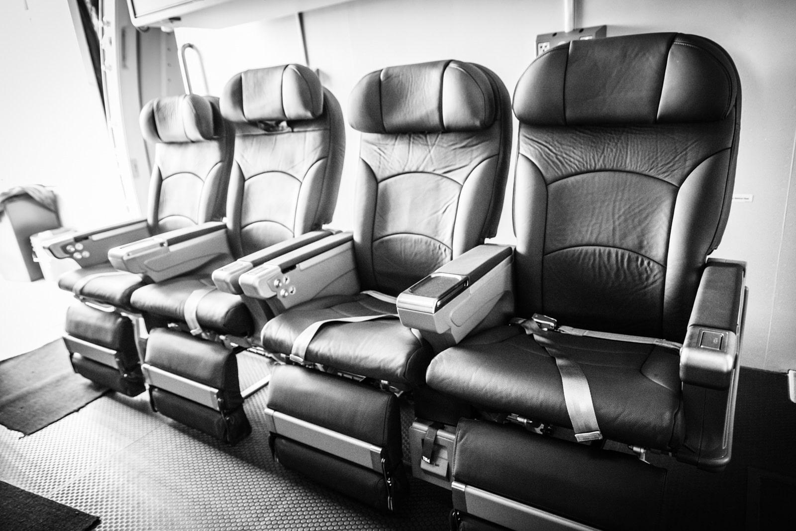 Sitzreihe einer Boeing
