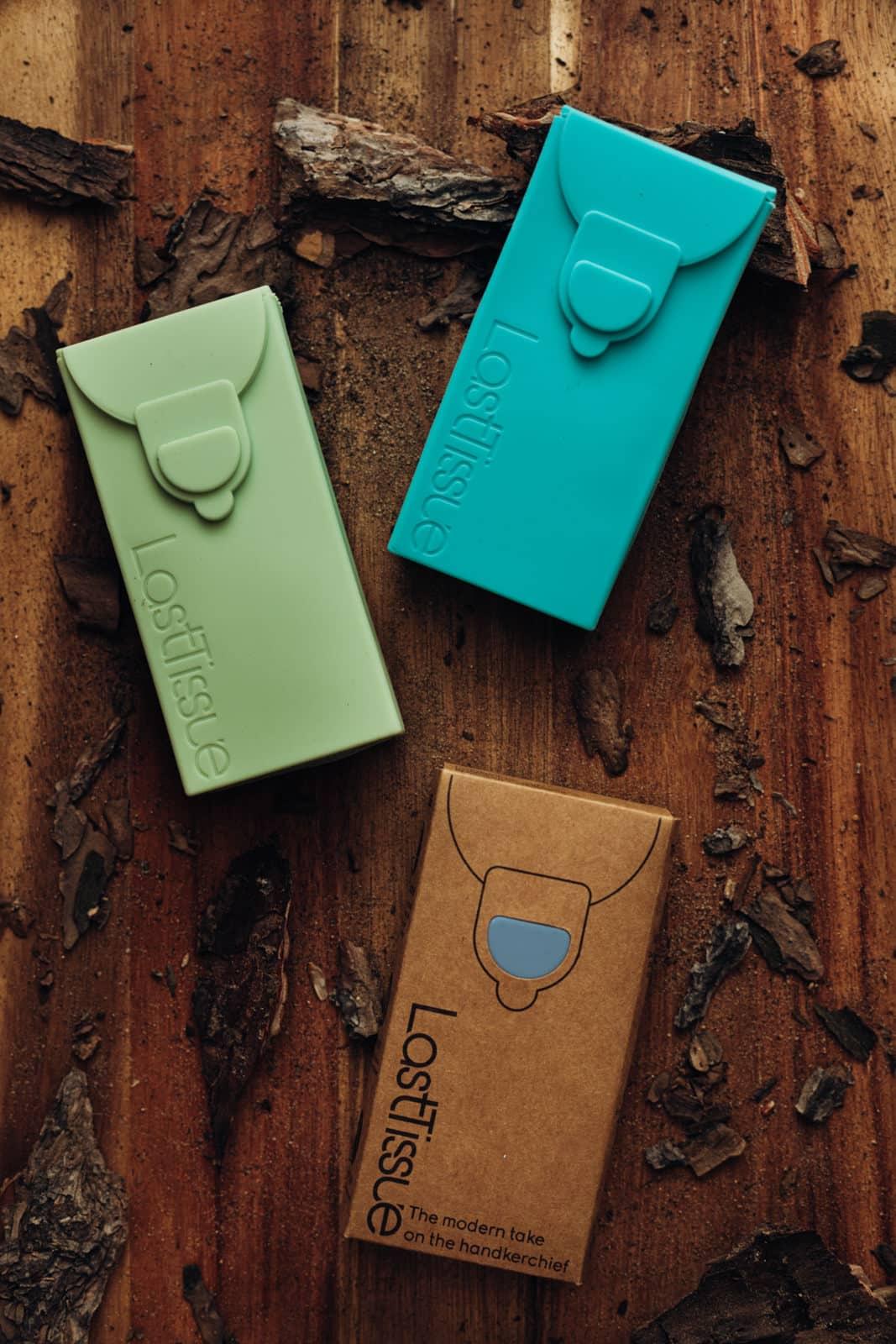 Last Tissue das nachhaltige Taschentuch in der praktischen Silikonbox in vielen Farben