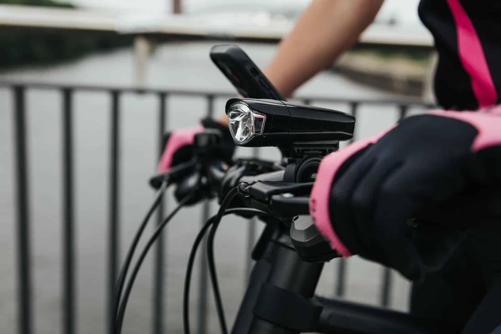Fahrradlampe auf dem Cannondale Fahrrad
