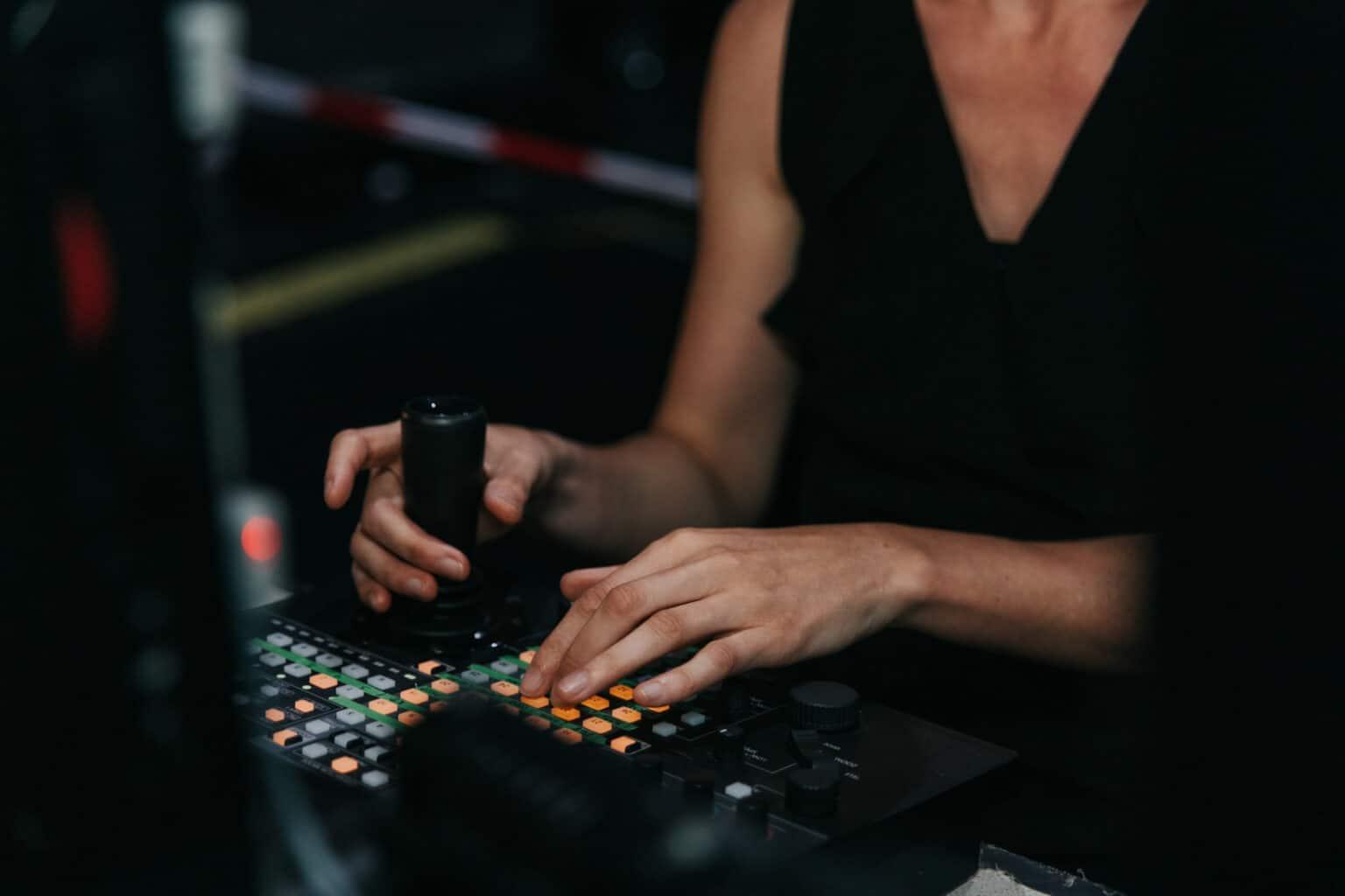 Bedienpanel einer Remote Kamera